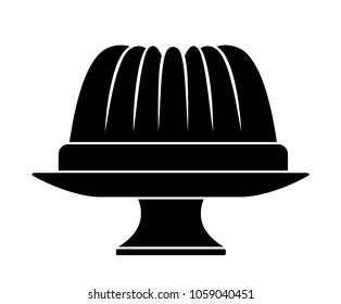vector bundt cake on cake stand isolated on white background
