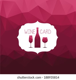 Vector burgundy background. Wine card.