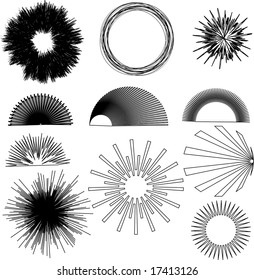 vector burst design elements