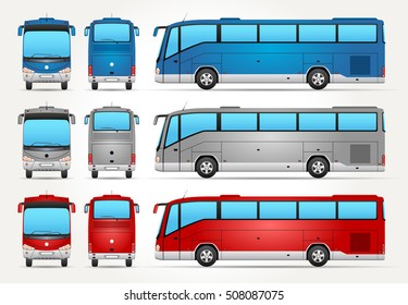 Vector Bus - Front - Back - Side view