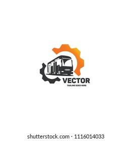Vector bus logo.