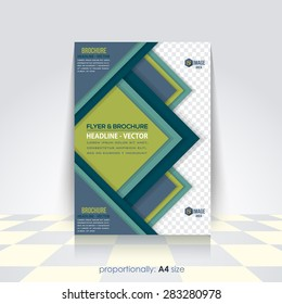 Vector Business A4 Flyer, Brochure. Cover Template, Corporate Leaflet Design Template