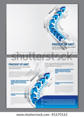 vector business brochure booklet template stock vector royalty free
