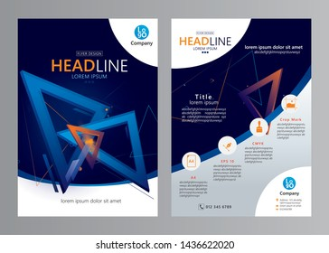 Vector business brochure design template. Corporate annual report. Flyer layout