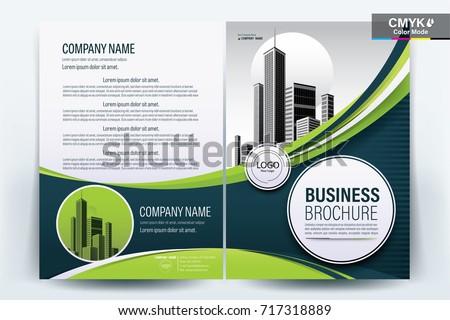 vector business brochure flyers design template のベクター画像素材