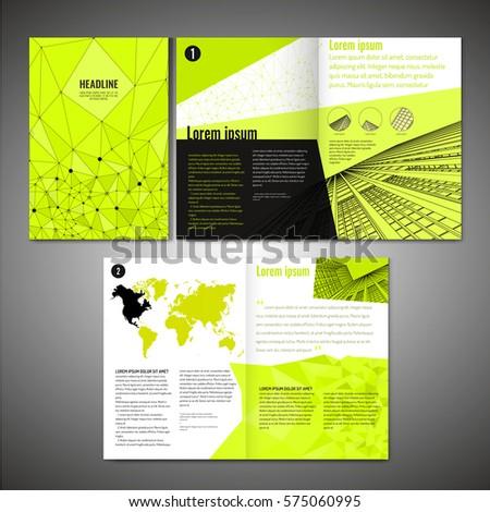 vector business brochure template modern idea stock vector royalty