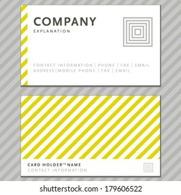 Vector business card with abstract background. Business card template.