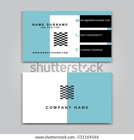 Vector business card creative design modern stock vector royalty vector business card creative design modern trend style front and back samples luxury wajeb Gallery