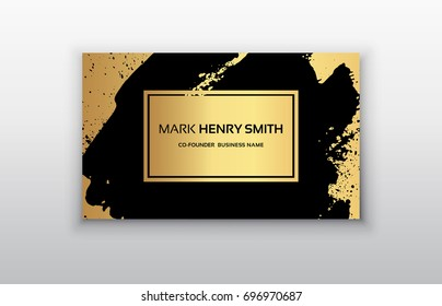 Vector business card. Luxury business card design.Vector Modern Creative and Clean Business Card Template