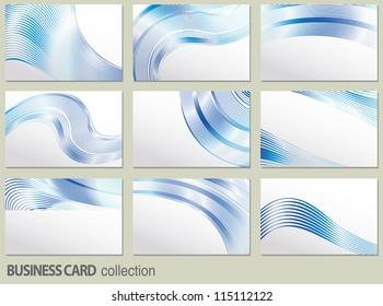 vector business card set, elements for design.