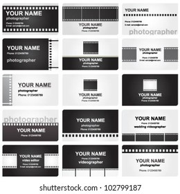 Vector business card set for photographers