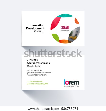Vector business card template colourful circle stock vector royalty vector business card template with colourful circle soft shapes round for it business accmission Gallery