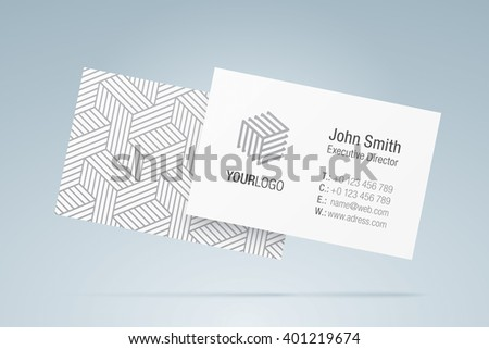 Vector business card template elegant business stock vector royalty vector business card template elegant business card with generic company logo contact information friedricerecipe Gallery