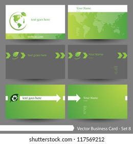 Vector business card template set: Environment & tree theme business card template (Part 8) Â?Â? please visit my gallery for more business card designs
