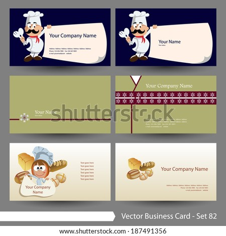 Vector business card template set food stock vector royalty free vector business card template set food restaurant theme graphic design elements for card accmission Images