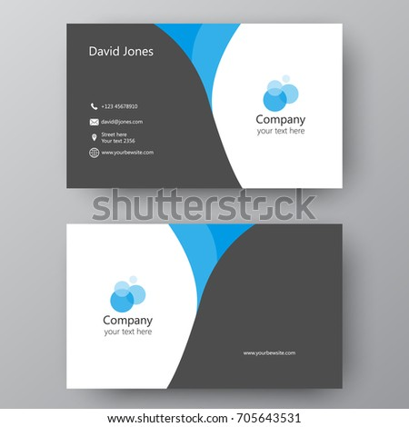 Vector Business Card Template Visiting Card Stock Vector Royalty