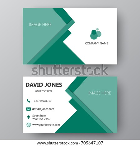 Vector business card template visiting card stock vector royalty vector business card template visiting card for business and personal use modern presentation card cheaphphosting Images