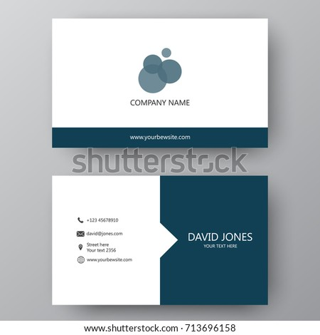 Vector business card template visiting card stock vector royalty vector business card template visiting card for business and personal use modern presentation card accmission Gallery