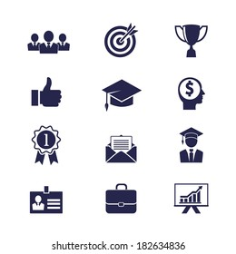 Vector Business career icons set for web and apps