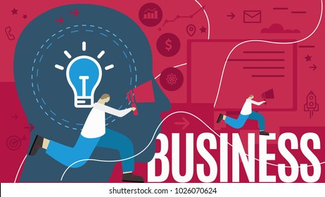 Vector business concept icons industry