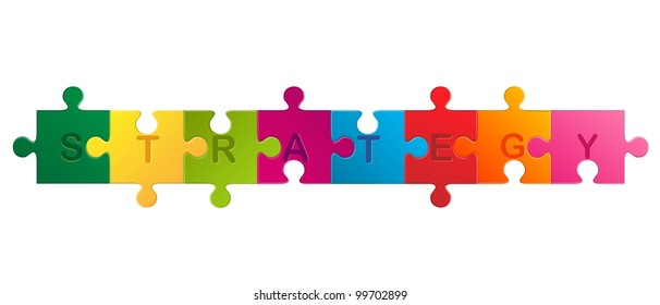 vector business concept jigsaw puzzle