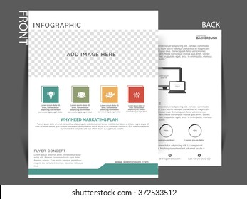 Vector business corporate flyer for marketing purpose, flyer can be used for print and publishing.