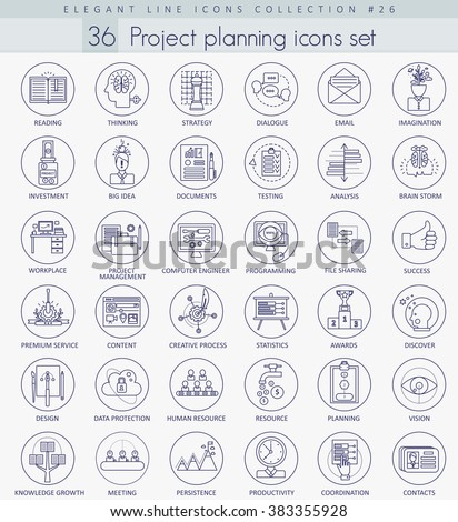 vector business finance project planning outline stock vector
