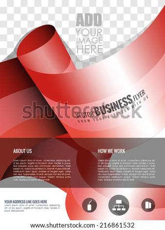 Vector Business Flyer Background And Brochure Magazine Cover Poster Template