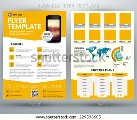 vector business flyer brochure design template stock vector royalty