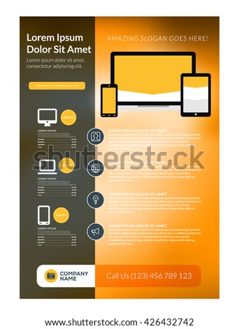 vector business flyer design template mobile stock vector royalty