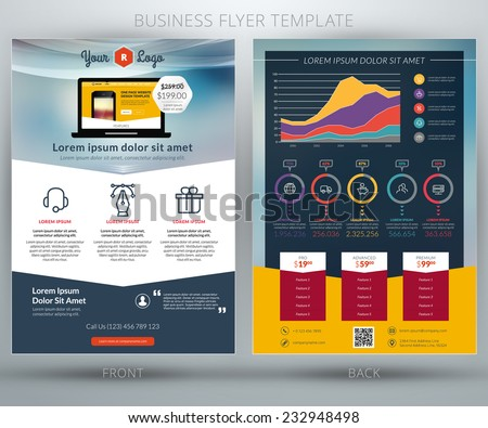 vector business flyer template mobile application stock vector