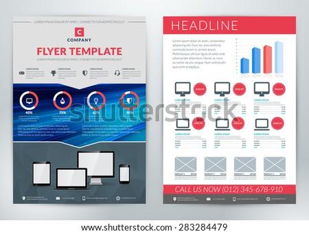 vector business flyer template business purpose stock vector