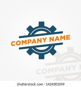 Vector Business Gear Logo Template. Vector Logo Template Concept