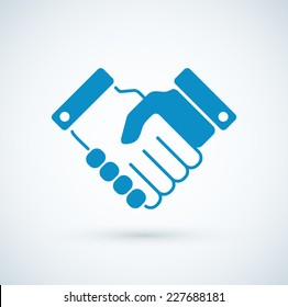 Vector business handshake icon.