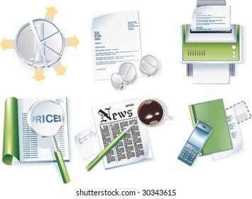 Vector business icon set. Part 1