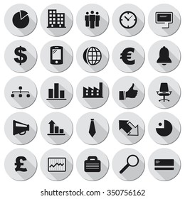 Vector business icons set.