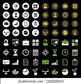 vector Business icons set, finance and money icons, Business finance symbol