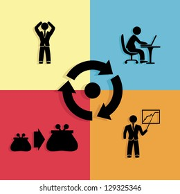 Vector. Business illustration.