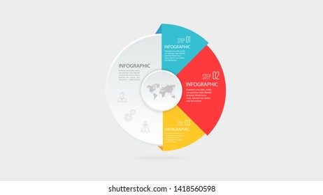 Vector business infographic elements template