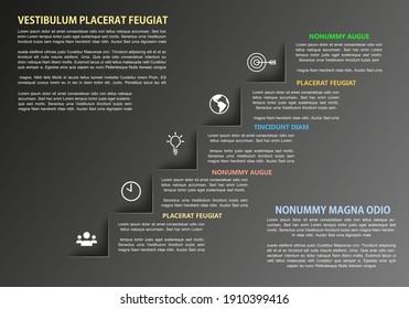 Vector Business Infographics five steps table with place for your text