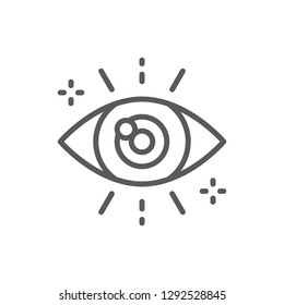 Vector business look, attentive eye line icon. Symbol and sign illustration design. Isolated on white background