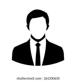 Vector business man. Vector illustration.