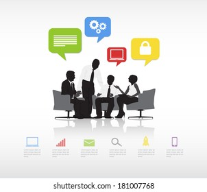 Vector of Business Meeting
