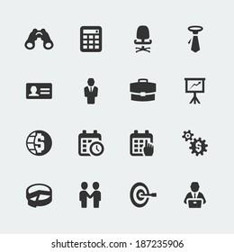 Vector business mini icons set