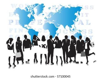 Vector of business people.
