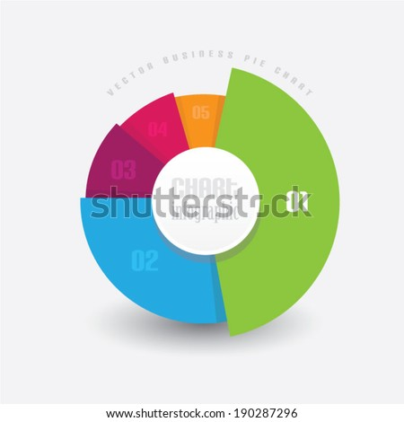 vector business pie chart info graphic stock vector royalty free