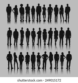 Vector of Business Silhouettes