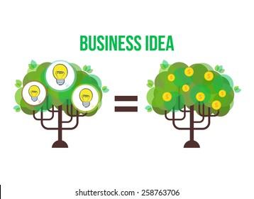 Vector business tree. Idea illustration