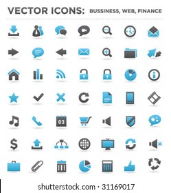 vector business web finance icons 02