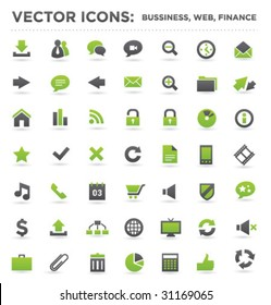 vector business web finance icons 01